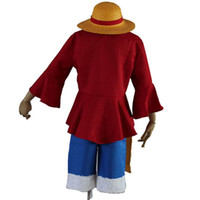 Wholesale One Piece Monkey D Luffy Cosplay Costumes Custom made any size