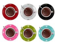 Wholesale 2013 Hot Novelty clock Creative wall clocks coffee cup shaped wall clock CLOCK choose color