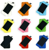 Wholesale Colors HOT RESALE iphone4 s Color LCD with digitizer panel scree Back Cover