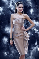 Zipper cyber monday - Cyber Monday Sale New Custom Size Sexy Elegant knee length Strapless Party Dress Evening Dress