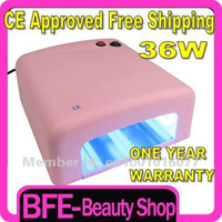 Wholesale Holiday Sale Watt UV Nail Lamp Light Shellac Timer W PINK Nail Dryer UK Plug
