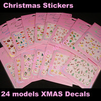 Wholesale Freeshipping X NEW D nail sticker Decal Christmas designs Nail Stickers Holidays XMAS FATHER Na