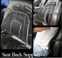 Wholesale New Car Seat Chair Massage Back Lumbar Support Mesh Ventilate Cushion Pad Black020104
