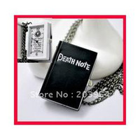 Wholesale hot sale new Death Note quartz pocket watches black death notebook wed