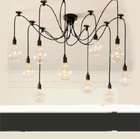 Wholesale 2012 new restaurant lights minimalist living room lamp study lying Edison bulb chandeliers Tiannvsan