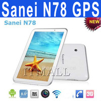 Sanei 7 inch Qualcomm Sanei N78 7 inch Android 4.0.4 Cell Phone GPS Tablet Built in WCDMA 3G 2G Phone Call Bluetooth 3.0