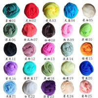 Wholesale 10pcs Korean wrinkle scarf scarves all match candy color transparent elegant silk scarf shawl