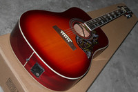 Wholesale Very beautiful new cherry electric guitar Acoustic guitar with from china