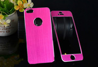 Wholesale Aluminum decorated skin sticker metal bling front back film stickers for iphone g i5 many color