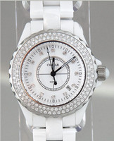 Wholesale NEW Women s Sparkling Japan Chiyar Carats Ceramic Designer Watch Date Diamonds Water Resistant