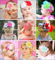 Wholesale Christmas headband Baby Amour Hair Accessories Girls flower Feather hair ornament with headband ty
