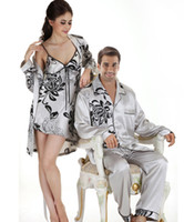 Wholesale Fashion Newest Sexy lovers Lingeries Sleepwear Mens Womens Pajamas couples Nightgown Plus Size SG