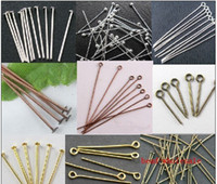Wholesale YBB mm Metal Alloy Silver Golden Antique Copper Antique Bronze DULL SILVER BLACK Head Eye Pins Jewelry accessories Findings