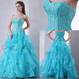 Wholesale 2013 Actual image hot sale shining sequins beaded sweetheart bodice tiered ruched quinceanera dress
