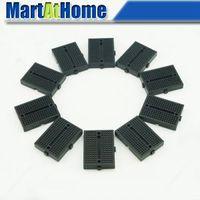 Wholesale 10PCS Mini Breadboard Tie points for Arduino Shield Black BV105 CF