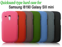 Plastic For Samsung For Christmas NEW Quicksand-type hard case for Samsung I8190 Galaxy SIII mini 100pcs lot free shipping