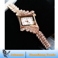 Wholesale New Rose Gold Fashion Women watch High grade Luxury Diamond Bracelet Wristwatches Titanium Analog Ir