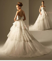 Sweetheart Lace Applique Beaded Organza Wedding Dresses 2013...