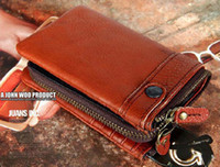 Wholesale Vintage cowhide designer men s Leather wallet Genuine leather purse detachable