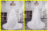 Cheap Real Photos Actual Image Dresses Best Strapless Satin Wedding Bridal Dress