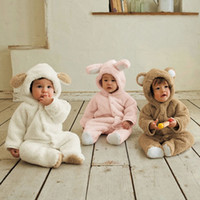 Wholesale Winter Baby s One Piece Rompers Kids Infants Animal Long Sleeve Bodysuits Sleepwear
