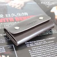 Wholesale Genuine cow Leather patenl leather Fashion key pouch for women men metal key