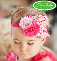 Wholesale Christmas TOP BABY headband NEW girls feather Hair Accessories infant headwear hair ornament cld