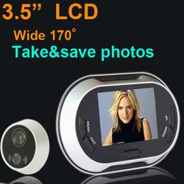 "3.5"" LCD Digital Doorbell Door Peephole Viewer Picture Taking Security Camera"