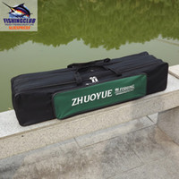 Wholesale bag cm canvas with bags for fishing rod reel lure hook accessories shoulder holder case FYB02