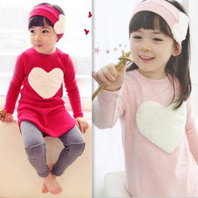 Free sample piece/lot 2016 autumn child female child long-sleeve T-shirt trousers hair accessory s