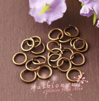Wholesale 2000 Useful Ancient Copper Plated Metal Jump Rings mm