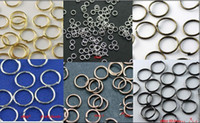 Wholesale YBB Silver Gold Plated Open Metal Jumping Rings Finding size to choose