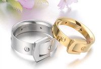 Wholesale 15 off Couple on the ring Screw the waist bag Titanium lovers ring Pairs