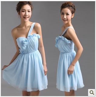 Голубой короткие мини homecoming платья