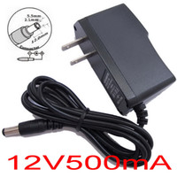 Wholesale 100PCS AC V V Converter Adapter DC V mA A Power Supply US plug Free express