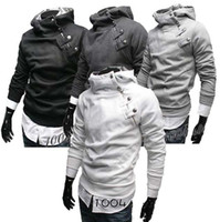 Wholesale Men s Hoodies New Mens Slimline Sexy Pocket Side Zip Up Men s Sweatshirt Hoodies US size XS S M L colours