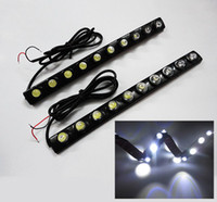 Wholesale 2x Flexible LED light strip auto DRL Eagle Eye Lens led lights Waterproof universal daytime light