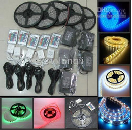 LED Strip Light RGB 5050 SMD + Power Supply +24 key Remote IR Controller +Waterproof LED strips lighting 5m(60LED metre)