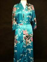 Wholesale Women s silk satin gown kimono robe S XL A