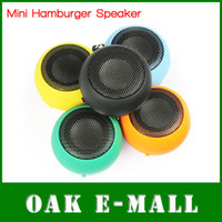 Wholesale Hamburger Mini Speaker for MP3 MP4 MP5 PC Laptop Tablet Phones High Sound Quality Dropshipping