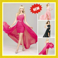 Free Shipping 2013 Long Cheap Sale Cocktail Dresses Hi Lo Pr...