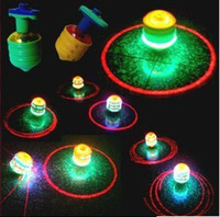 Wholesale Freeshipping pc NEW Top funny music LED light singing rotating peg top kids toy birthday Xmas gift