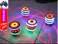 Wholesale EMS freeshipping NEW Top funny music LED light singing rotating peg top kids toy birthday Xmas gift