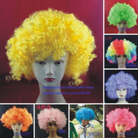 Wholesale 16 colors g L Size Explosion Curls Party amp Event COS Cosplay Wigs for Fans Clown Masquerade