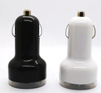 Wholesale 2 Port Dual USB DC Car Charger Adapter Accessory for iphone G S ipad blk wht