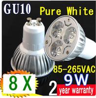 Wholesale 8X CREE LED GU10 W x3W High power Spot Light Bulb LED Lights Spotlight spot lamp Downlight lm