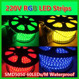 10M NEW 110V 220V Waterproof SMD5050 60LEDs M RGB LED Flexible Strips +1PC RF 10keys RGB LED Panel Controller to decorate Christmas Lights