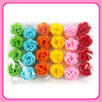 Wholesale 4 CM rose flower soap creative birthday present return new strange gift wedding supplies small g