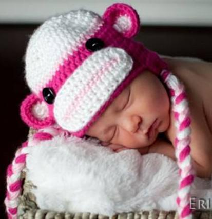 Crochet Sock Monkey Baby Hats Only New Crochet Patterns