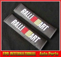 Wholesale Ralliart Carbon Seat Belt Cover Shoulder MITSUBISI EVOLUTION EVO FTO